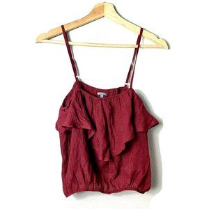 Charlotte Russe Red Ruby Crop Top Ruffle M